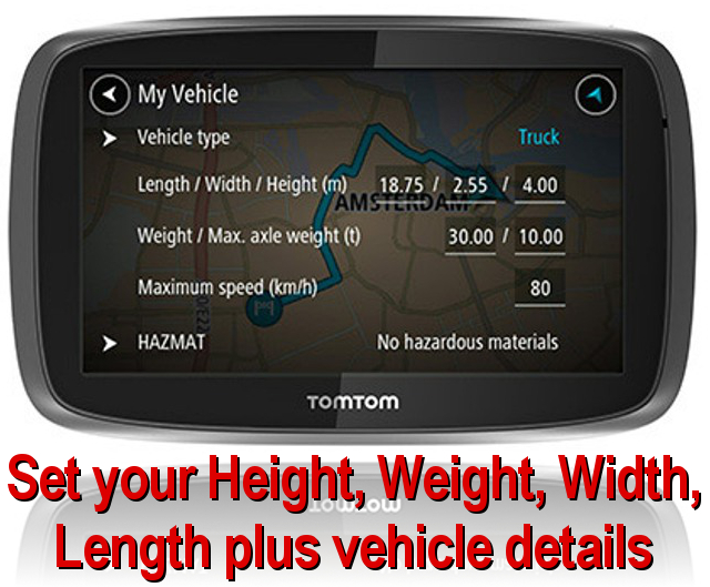 TomTom PRO 6000 TRUCK with 5 inch large screen for hgv and truck drivers from hgvsolutions